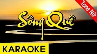 Sông Quê   Karaoke Beat | Tone Nữ