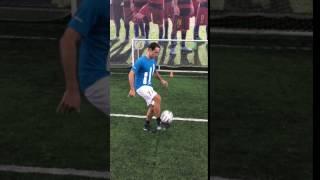 Удар после статичного жонглирования мячом