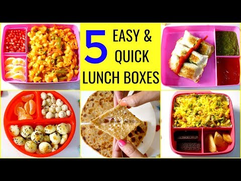 5 LUNCH BOX  | 5 Quick & Easy Lunch Box Recipes | CookWithNisha