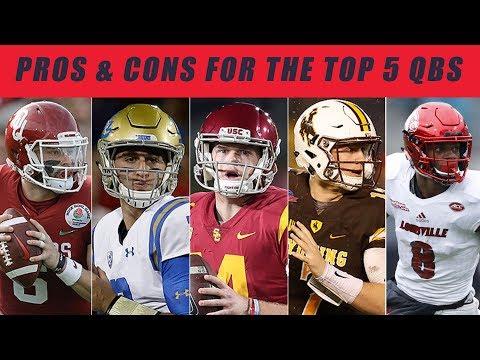 TOP 5 Quarterbacks NFL DRAFT: Pros & Cons