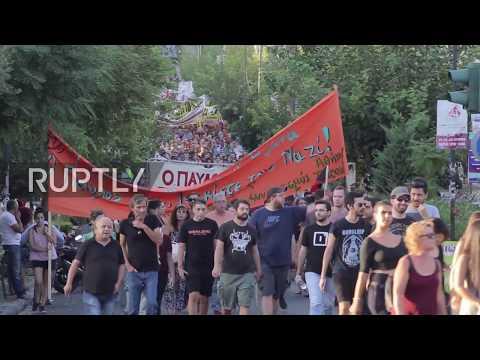 Greece: Anti-fascist march held in memory of slain rapper, ends in clashes