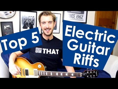 5 EASY Electric Guitar Riffs For Beginners