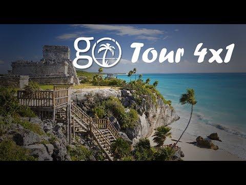 Go Tours Cancun Tour 4X1 Coba, Tulum, Cenote, Playa del Carmen