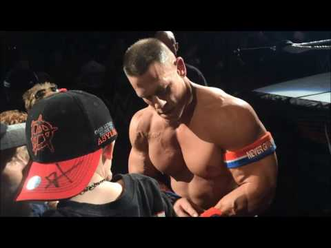 John Cena makes two young fans' night in Birmingham