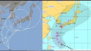 台風8号米軍気象庁進路予想比較