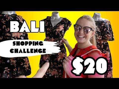SHOPPING CHALLENGE Seminyak BALI! Buying each other $20 USD Outfits!