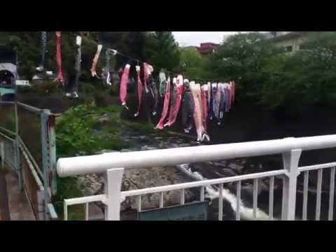 2014長崎市立西浦上小学校前の鯉のぼり