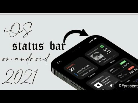 Customize your status bar for your Mobile