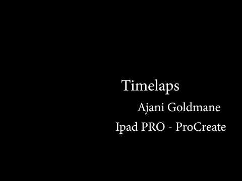 Ajani Goldmane digital drawing timelaps