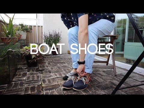 Outfit de verano con mocasines para botes