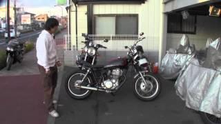 SR400 ドラムブレーキカフェレーサー 参考動画