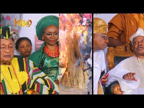 "See How Alaafin of of Oyo honoured Awujale of Ijebu,With An Ancient Masquerade ""Dana F'ojura"""