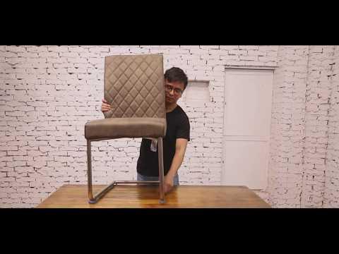 Ambiendi Schwingstuhl Vintage Esszimmerstühle Stuhl Montage