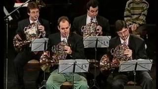 Budapest Festival Horn Quartet   J.S.Bach Fugue in D minor .mpg