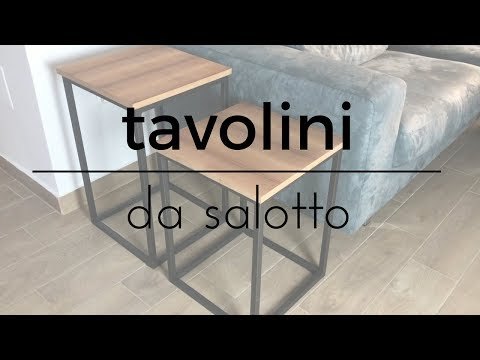 Fai da te - Tavolini da salotto semplici da realizzare || Lavorazione del legno\acciaio