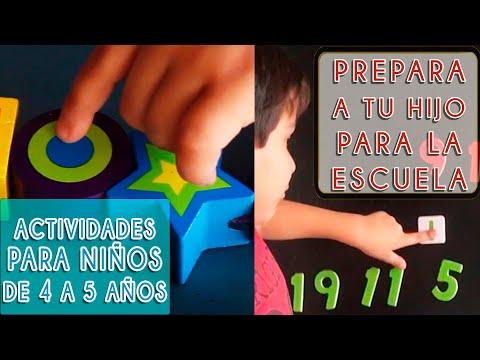 PREPÁRALO PARA LA ESCUELA | ACTIVIDADES PARA NIÑOS DE  4 A 5 AÑOS