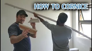 How To Install Cove Cornice In A Bathroom Over Tile