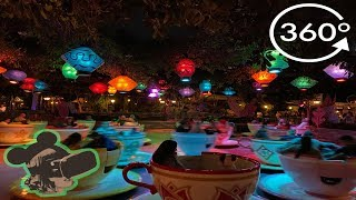 360º Ride On Mad Tea Party In Disneyland