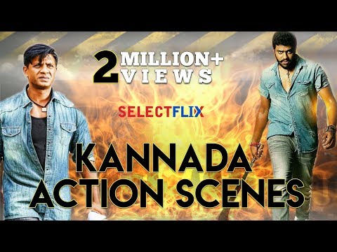 Hindi Dubbed | Kannada Action Scenes | Latest Hindi Dubbed 2019 Movies