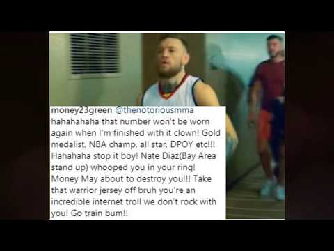 Draymond Green Tells Conor Mcgregor to take off his jersey Conor Responds