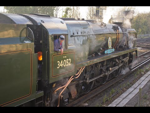 Southern Railway 34052 'Lord Dowding' with 'The Royal Wessex…