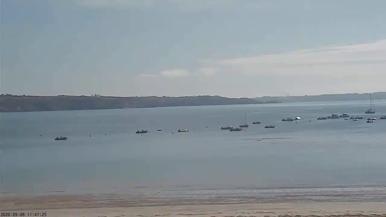 Webcam en direct de la plage de Trez Hir à Plougonvelin