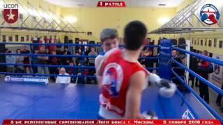 3-ые рейтинговые бои Лига бокса г. Москвы  – 05.11.16 г. до 64 кг.
