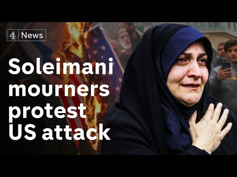 Angry mourners chant 'death to America' after top Iranian general assassinated