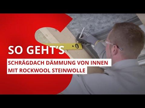Dach dämmen: So geht's richtig – Schrägdach Dämmung von innen mit ROCKWOOL