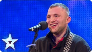 Robbie Kennedy With His Acoustic Guitar Singing 'Iris'  Week 3 Auditions | Britain's Got Talent 2013