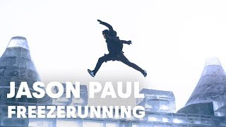 Winter wonderland in China with Jason Paul Amazing video Parkour Freerunning China