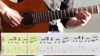 Блюз А мажор на гитаре. ноты и табы. Blues A on guitar for beginner .notes/tabs
