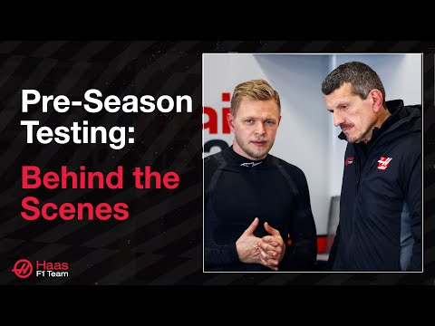 Image: Go behind the scenes with Haas at pre-season testing in Barcelona!