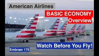 BASIC ECONOMY Overview on American Airlines (How it Works) ORD-RDU  E175