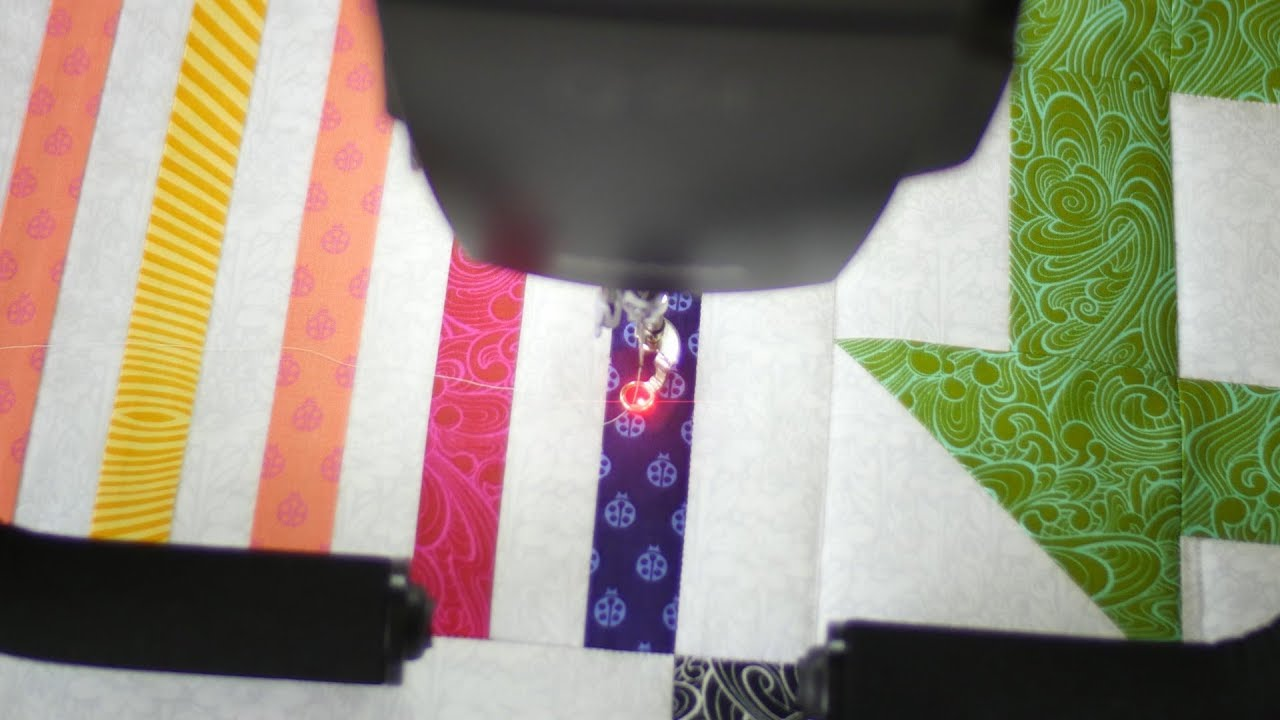 BERNINA Q 20 Tutorial: Using the Needle Point Laser