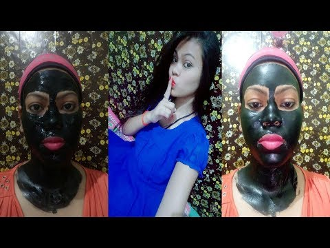 Black charcoal peel off mask painfull or not honest review how to apply step by step