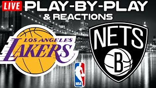 Los Angeles Lakers vs Brooklyn Nets   Live Play-By-Play & Reactions