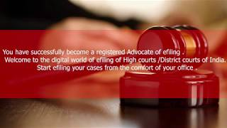Hindi – Register as an Advocate on e-filing portal of High Courts & District Courts of India;?>