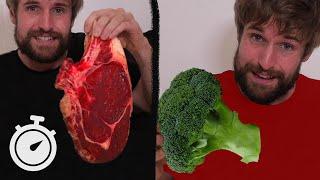 1 kilo de viande crue VS brocoli cru CHALLENGE