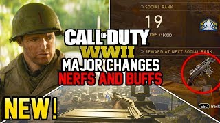 MAJOR PATCH CHANGES! MANY NERFS AND BUFFS - ZOMBIES 2XP! (Call of Duty WW2)