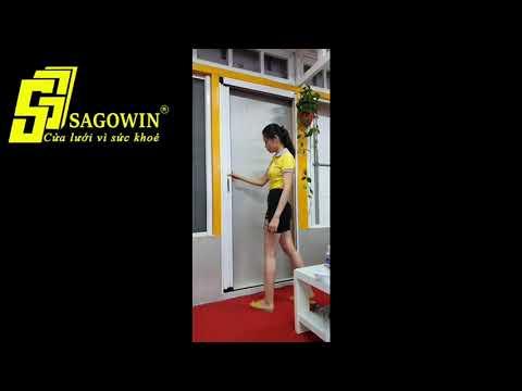 Cửa lưới xếp xích hệ không ray 01 cánh Sagowin - Cửa Lưới Sagowin