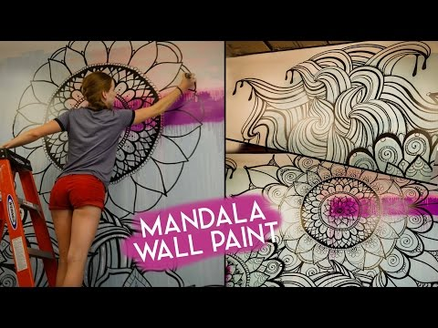 Mandala wall art video steemit for Draw with jazza mural