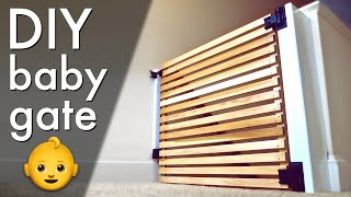 Easy DIY Modern Baby Gate or Pet Gate 👶// How To Build - Woodworking