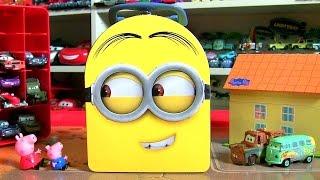 SURPRISE Lunchbox MINIONS Surprise Eggs Toys Penguins Bighero6 Furuta Wikkeez