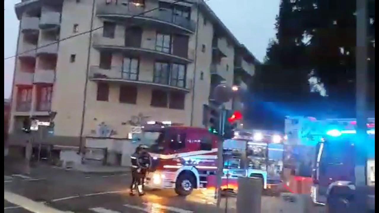 Incendio all'ex Rilecart di Alzano Lombardo