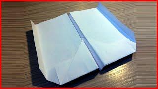 Как сделать самолет бумеранг из бумаги который возвращается своими руками без клея видео