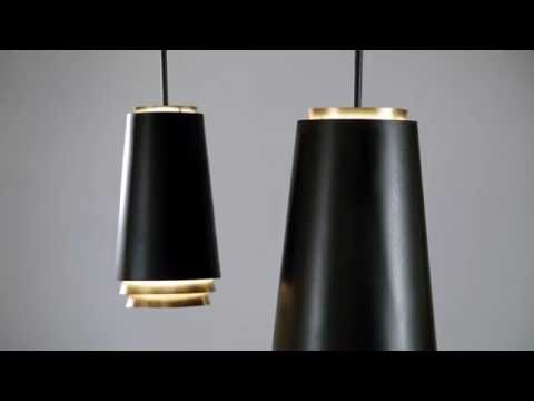 Video for Fahrenheit Textured Black with Gold Leaf Accents 12-Inch LED Pendant with Textured Black with Gold Leaf Accents