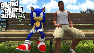 SONIC THE HEDGEHOG meets FRANKLIN (GTA 5 Mods)