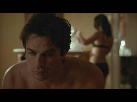 The Vampire Diaries: 7x13 - Damon and Krystal after sex and Bonnie comes in [HD]