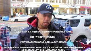 A-THUG +HOT97RESPONDS+Safaree Robbed Angie Martinez +Nicki Minaj+125TH HARLEM  +MEGASTARBRAND STORE+